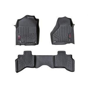 HEAVY DUTY FLOOR MATS FRONT / REAR 02-08 DODGE RAM 1500 QUAD CAB