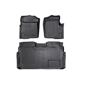 HEAVY DUTY FLOOR MATS [FRONT / REAR] - 04-08 FORD F-150 CREW CAB