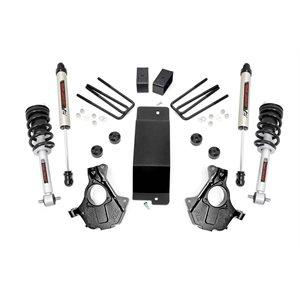 3.5IN GM SUSPENSION LIFT   KNUCKLE KIT (14-18 1500 PU 4WD)   V2 SHOCKS   CAST ALU & STAMPED STEEL