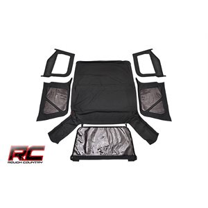 RC JEEP TJ (HALF STEEL DOORS) REPLACEMENT SOFT TOP / BLACK