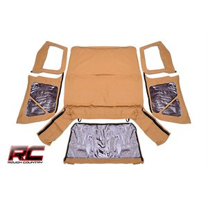 RC JEEP TJ (HALF STEEL DOORS) REPLACEMENT SOFT TOP / SPICE