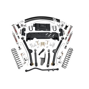 "JEEP XJ 84-01 4.5"" LONG ARM LIFT KIT W / 2.8 V6 / NP242 / ADD-A-LEAFS"