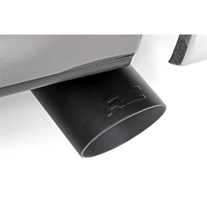 FLAT BLACK EXHAUST TIP W / RC LOGO (FOR VEHICLES W / 2.5IN - 3IN INLETS)